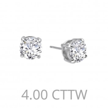 4.0 CTTW Diamond Stud Earrings