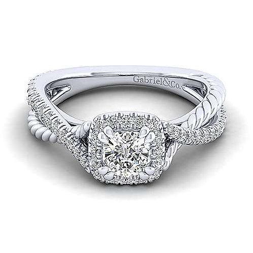 Sheridan Halo diamond ring