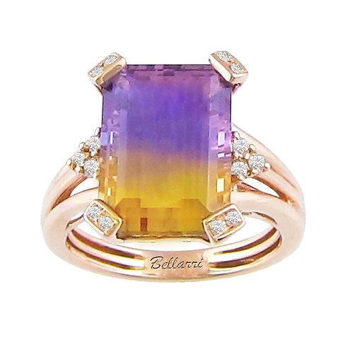 Ametrine Diamond Ring