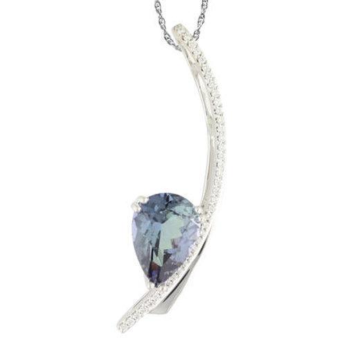 Peacock Tanzanite Diamond Necklace