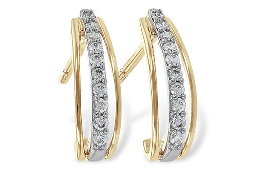 Diamond & Gold Fashion Earring