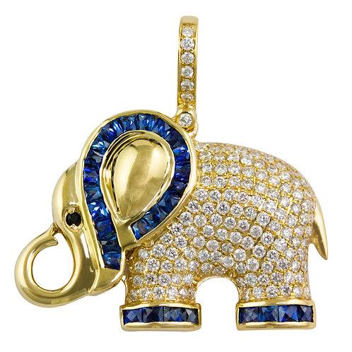 Safari Elephant Pendant