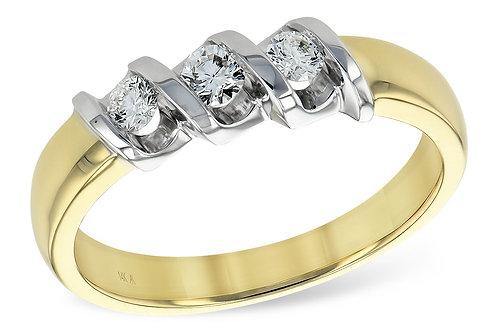 AK Three Stone Wedding Ring