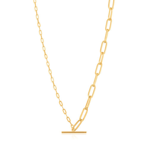 Mixed Link T Bar Necklace