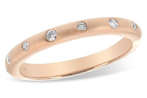 Pink Gold Diamond Band