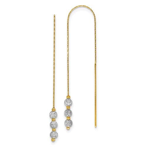 Two tone bead earrings