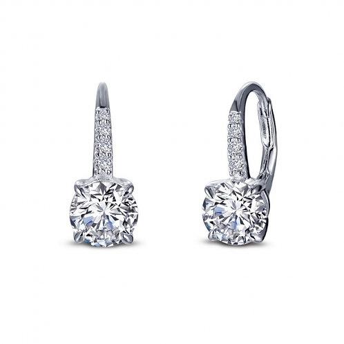 Solitaire Drop earrings