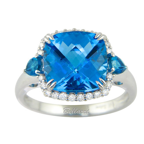 Forever Young  blue topaz and diamondring