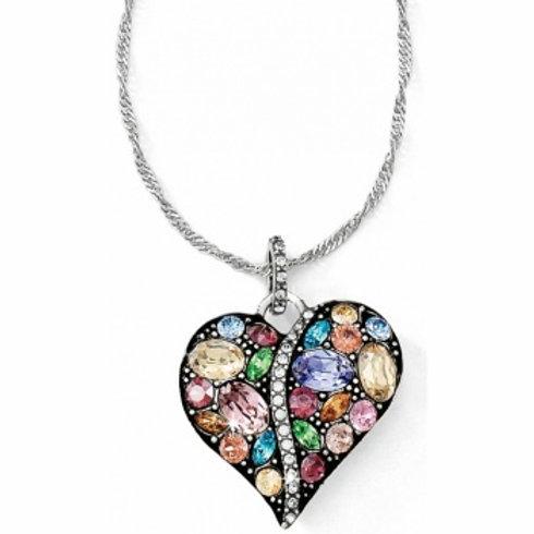 Trust Your Journey Heart Necklace (pastel)
