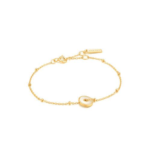 Mother Of Pearl Disc Bracelet