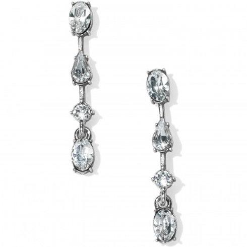 One Love Slim Crystal Post Earrings