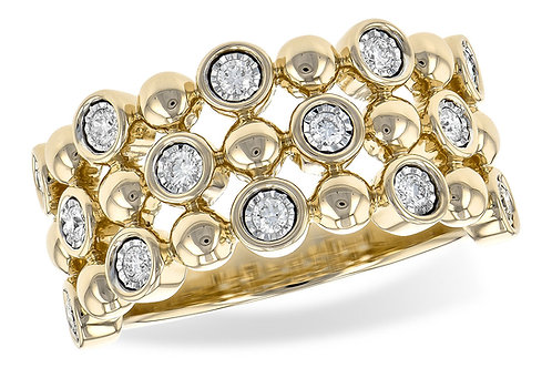 3 Layer Gold & Diamond Ring