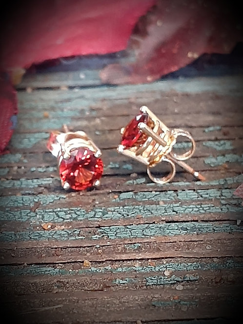 Raja Garnet earrings