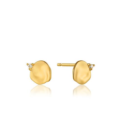 Crush Disc Stud Earrings