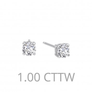 Diamond Stud Earrings 1 CTTW