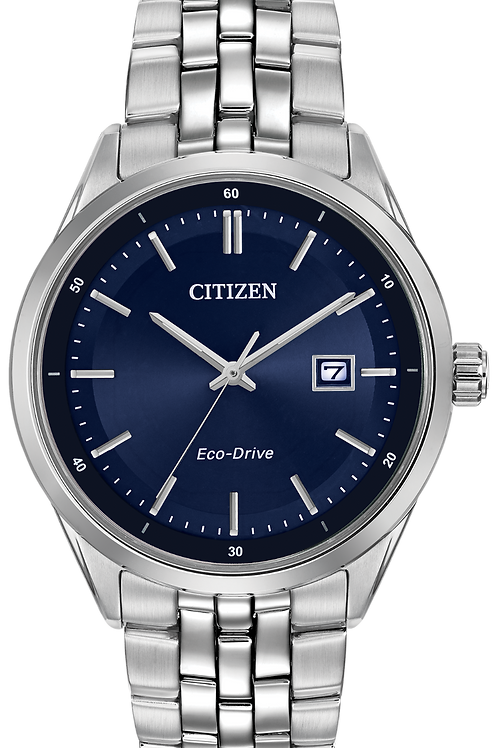 Blue face Eco Drive Watch