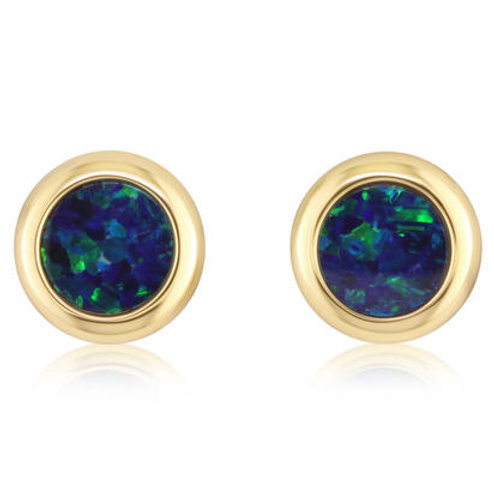 Australian Blue Opal Earrings