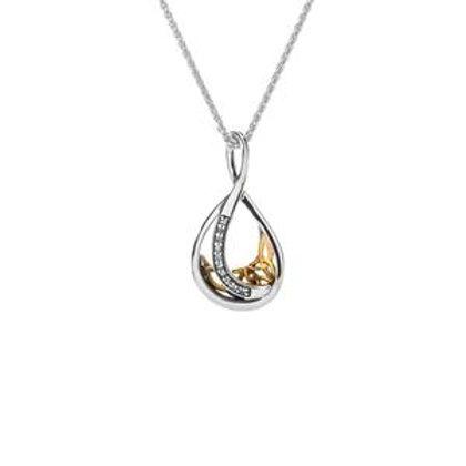 Trinity Teardrop Necklace