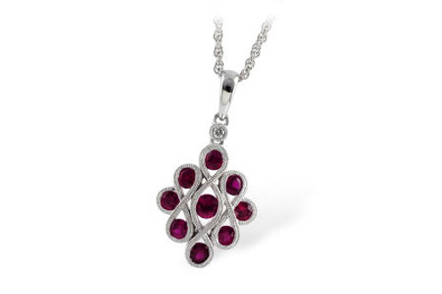 Ruby White Gold Pendant