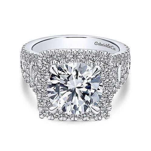 Cushion Cut Halo diamond ring
