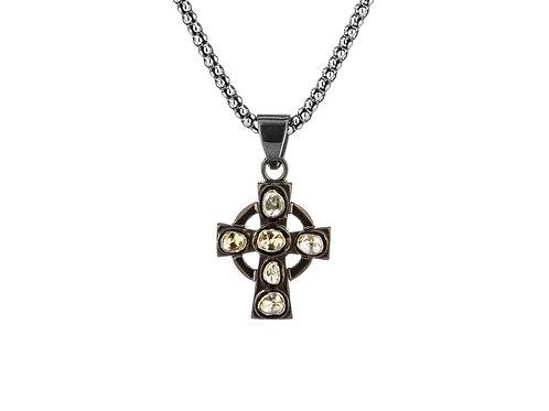 Raw Diamond Celtic Cross