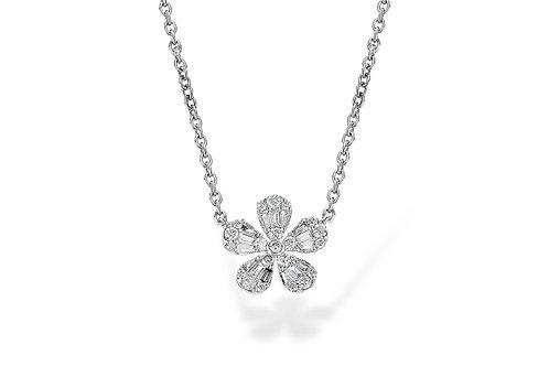 Flower Diamond Necklace