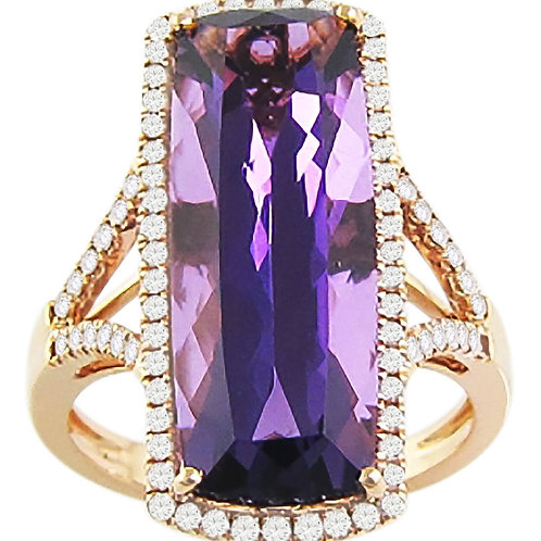 Forever Young diamond amethyst ring