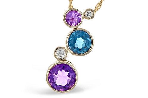Semi-Precious Multi-Gemstone Pendant