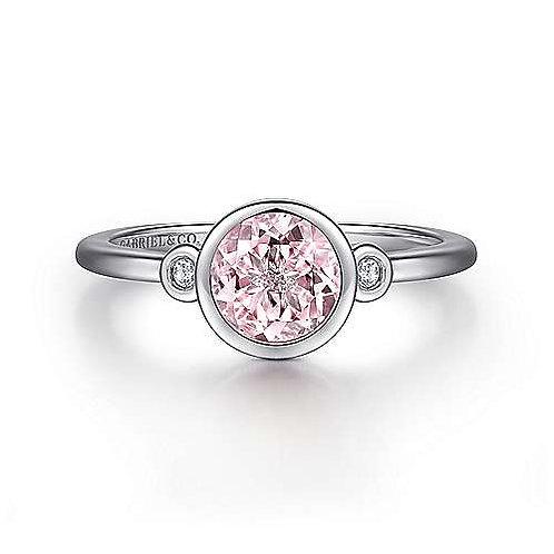 Precious gem and diamond ring