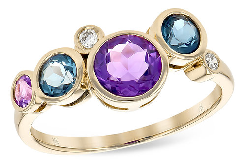 Semi-Precious Multi-Gemstone Ring