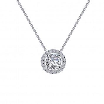 Halo Round Necklace
