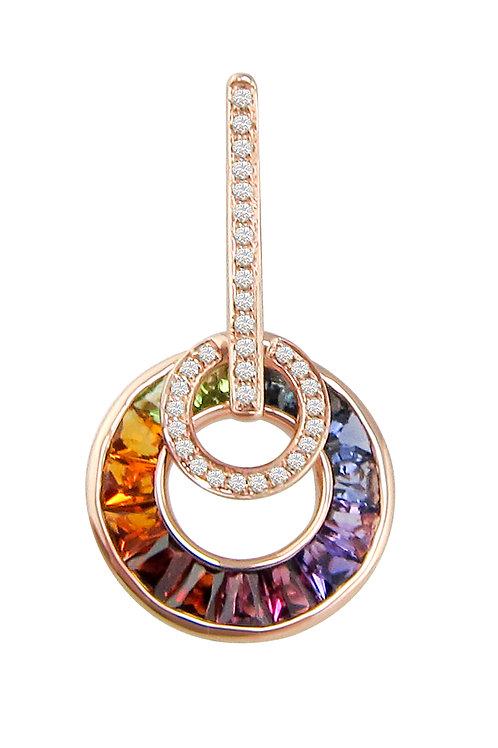 Multi color gem pendant
