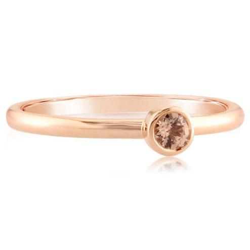 Rose Gold lotus garnet stackable ring