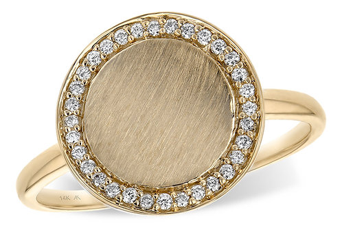 Gold Disk Ring