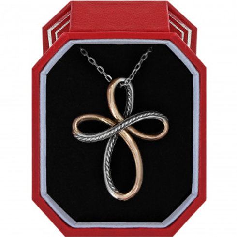 Neptune Rings Cross Necklace