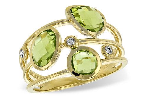 Peridot Diamond Ring