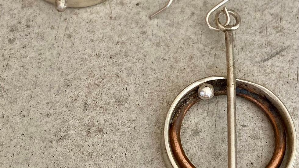 Gears up earrings