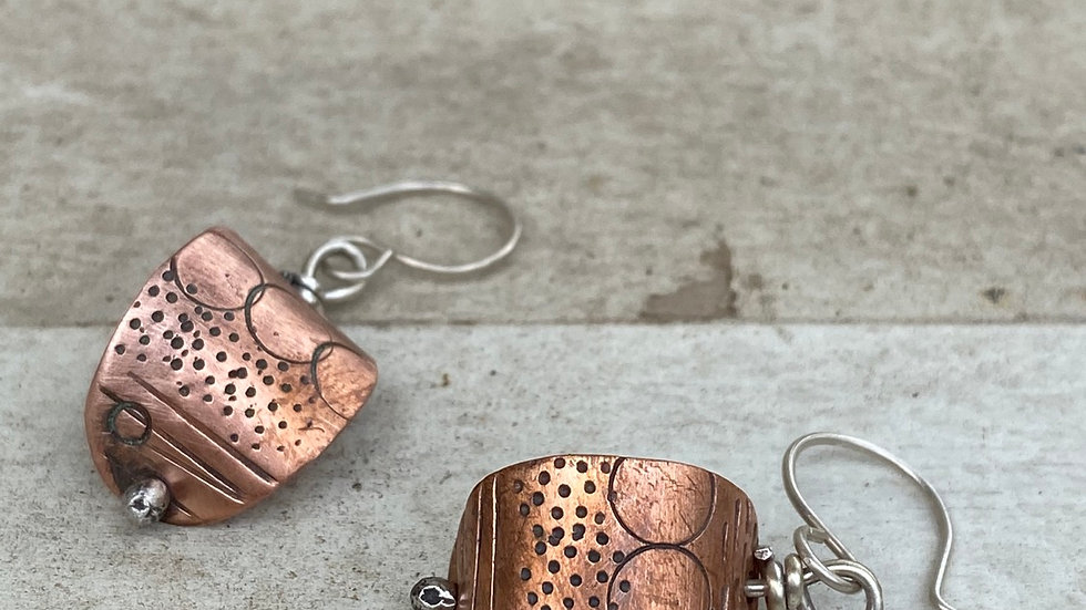Curved copper cuties ears