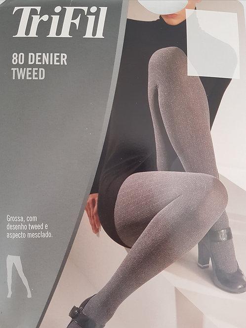 Meia Calça Tweed Fio 80