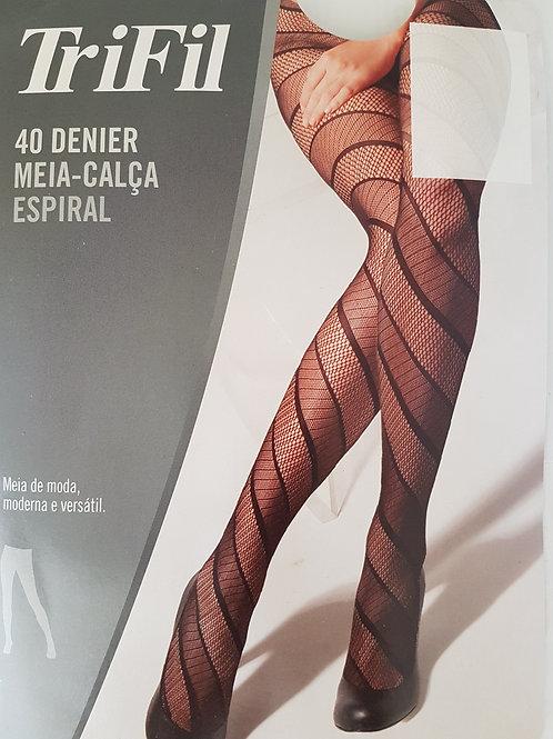 Meia Calça Espiral Fio 40