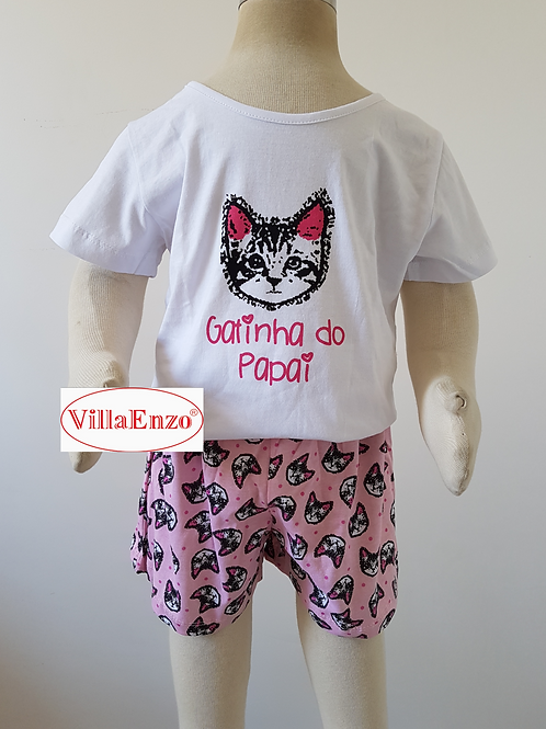 Short Doll Gatinha Do Papai Inf.
