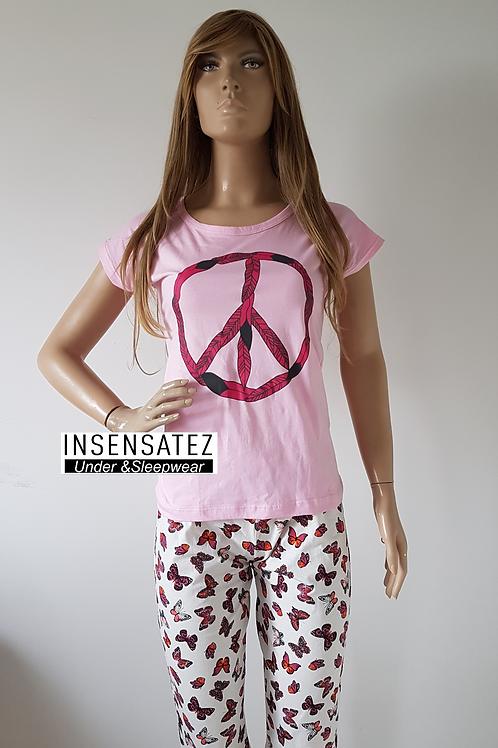 Pijama Capri Manga Peace