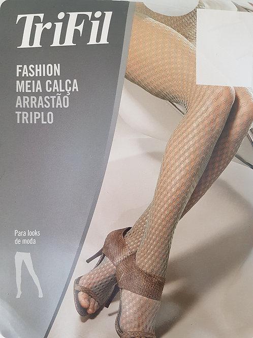 Meia Calça Arrastão Triplo Fashion