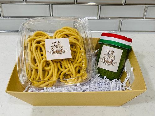 Arugula Pesto with Bucatini