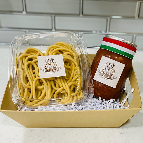 Bolognese with Bucatini