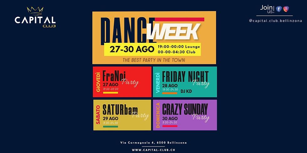 DANCE WEEK dal 27 al 30 AGO