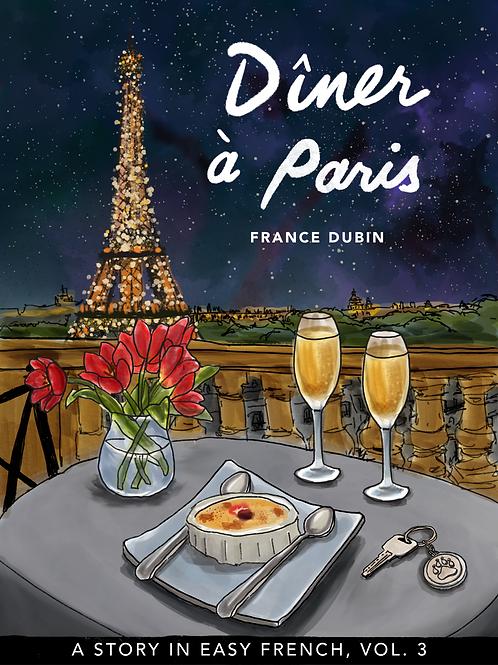 LIVRE BILINGUE - DINER À PARIS - FRANCE DUBIN