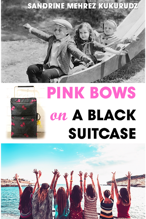 PINK BOWS ON A BLACK SUITCASE - Sandrine Mehrez Kukurudz