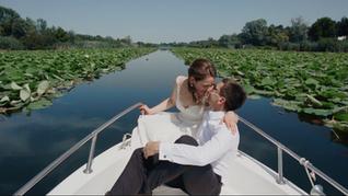 Wedding on lake Snagov