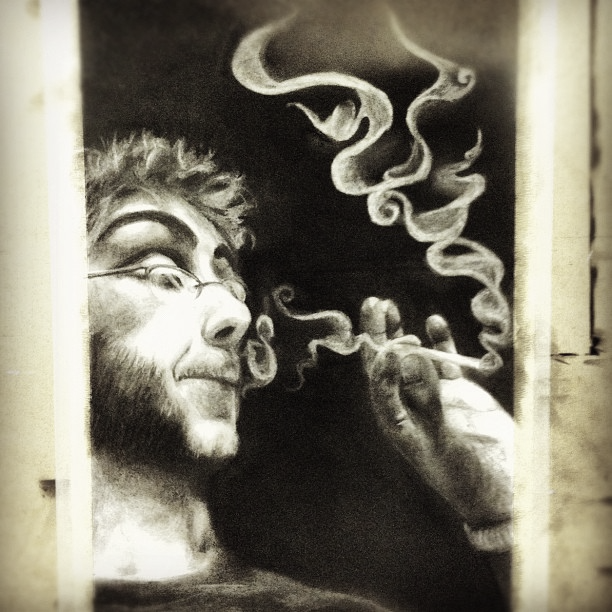 Self-Smoking Portrait